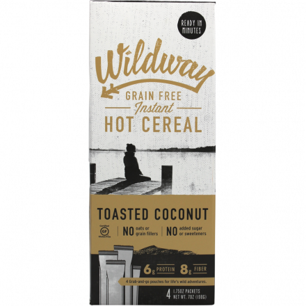 Wildway Grain-free Instant Hot Cereal Toasted Coconut 4 Packets, 198g
