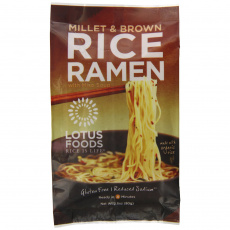 Lotus Foods Millet and Brown Rice Ramen Noodles With Miso Soup, 80g