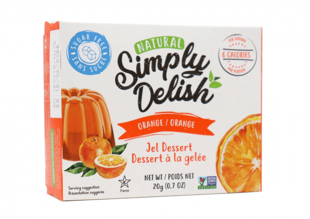 Simply Delish Sugar Free Orange Jel Dessert, 20g